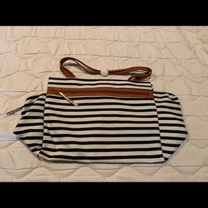NWT DSW Exclusive Striped Overnighter Weekend Bag
